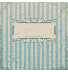 Striped retro background vector image vector image