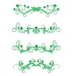 vintage floral frames vector image