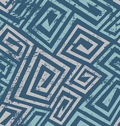 ancient blue spiral seamless pattern with grunge vector image