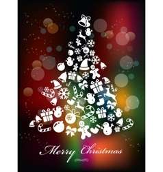 Colorful Background with Christmas Elements vector image vector image