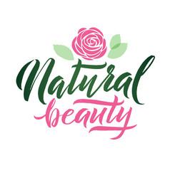logo natural beauty lettering custom vector image vector image
