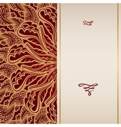 Premium Gold Invitation vector image
