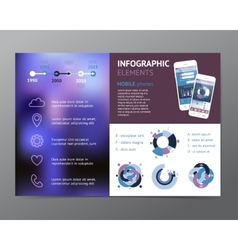 Template with infographic elements and phones vector image