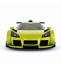 Very fast race green car vector image
