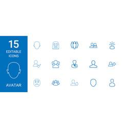 15 avatar icons vector