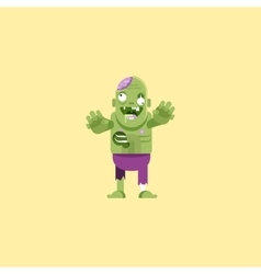 a zombie character for halloween in vector image