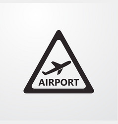 Airport sign icon airport symbol flat icon flat vector