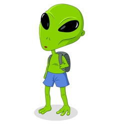 Alien Goes To School vector image