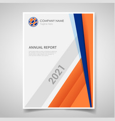 annual report or book cover brochure magazine vector image