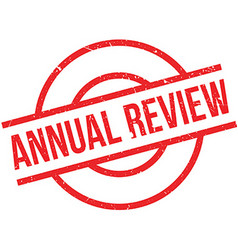 Annual Review rubber stamp vector image