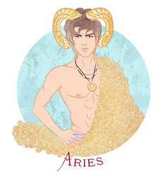 astrological sign aries vector image
