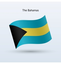 Bahamas flag waving form vector image