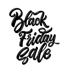 black friday sale lettering phrase design element vector image