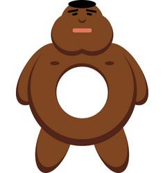 Black man as a donut vector