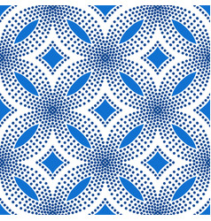 Blue flower pattern halftone background vector