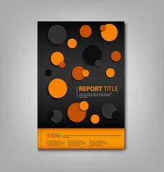 Brochures book or flyer with abstract circles vector
