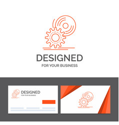 Business logo template for cd disc install vector
