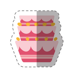 cake party dessert shadow vector image