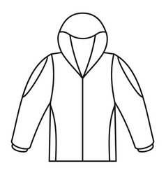 Camp jacket icon outline style vector