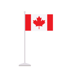 canadian table flag isolated on white background vector image