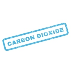 Carbon Dioxide Rubber Stamp vector