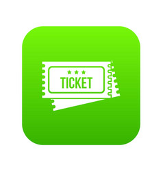circus show tickets icon digital green vector image