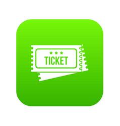circus show tickets icon digital green vector image