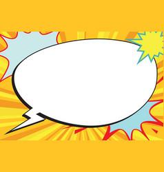 Comic bubble copy space pop art vector