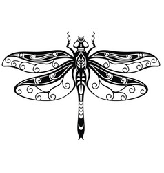 Decorative dragonfly vector