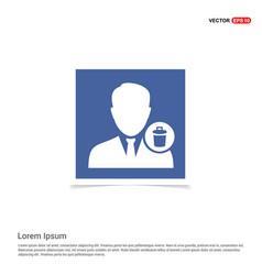Delete user icon - blue photo frame vector