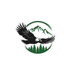 eagle icon logo design template vector image