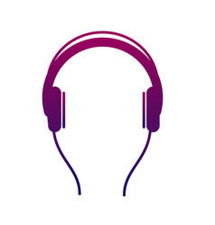Earphone icon listen to stereo music with an vector