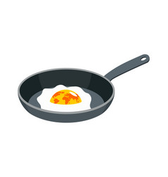 earth fried egg planet is scrambled eggs political vector image