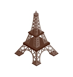 Eiffel Tower isometric 3d icon vector