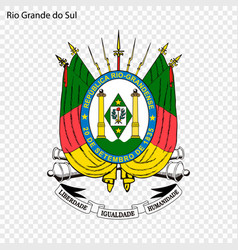 Emblem of rio grande do sul state of brazil vector