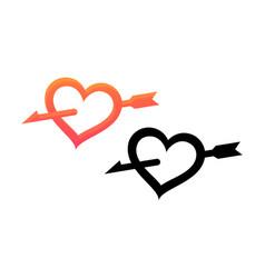 Emblem valentine day vector