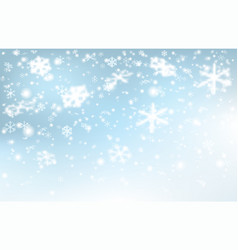 falling snow on a light blue background vector image
