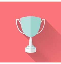 Flat award cup icon vector image