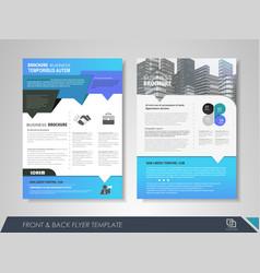 Flyer layout vector