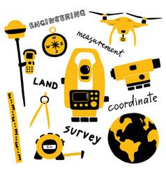 geodetic measuring equipment engineering vector image