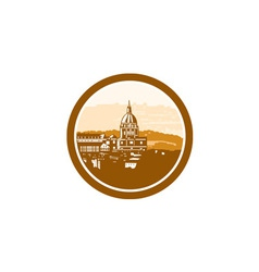 Gold Chapel Dome of Les Invalides Paris France vector