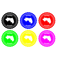 Guinea rubber stamp vector