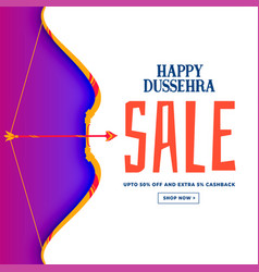 Happy dussehra festival sale discount banner vector
