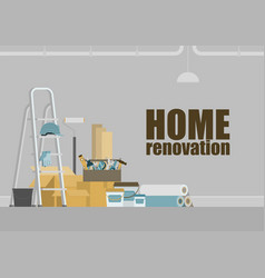home renovation background vector image