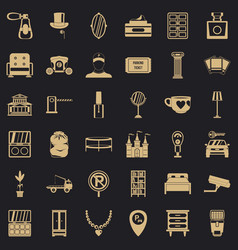 homely icons set simple style vector image