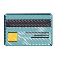 Isolated credit card vector