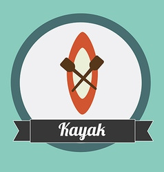Kayak design vector