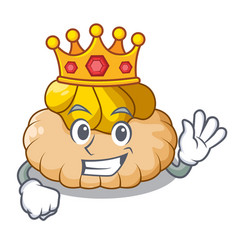 King ice cream biscuit on wafers cartoon vector