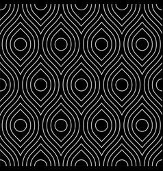 line art arabic seamless pattern vector image