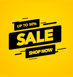 modern flat final sale banner shop now background vector image